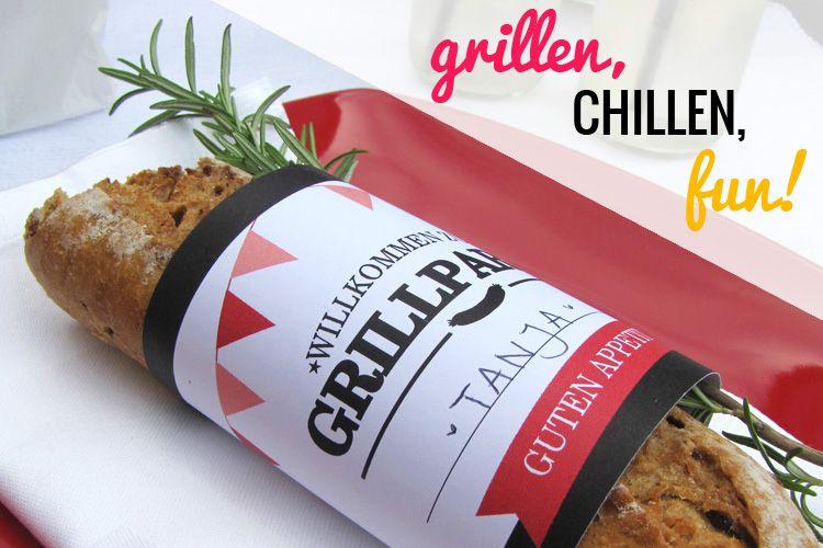 willkommensgruß als #tischdekoration für die #grillparty inklusive, Hause und Garten