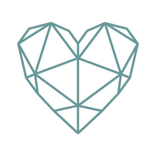 Geometric Heart Cuttable Design Cut File. Vector, Clipart ...