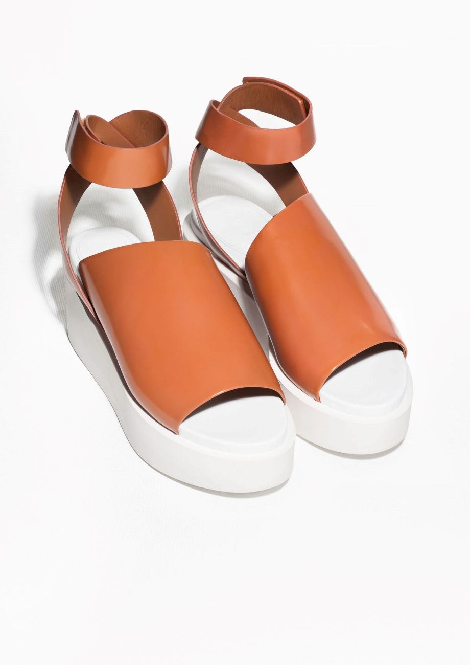 & Other Stories | Leather Wedge Sandals