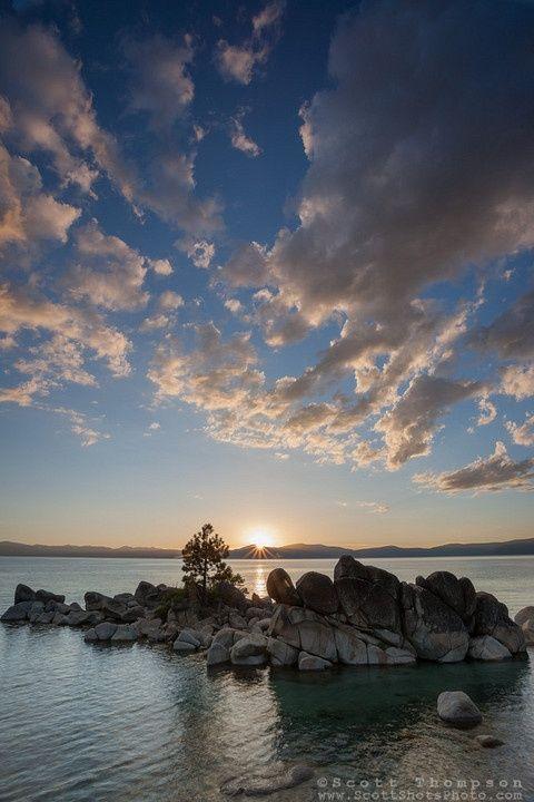 Whale Beach Tahoe : whale, beach, tahoe, Sunset, Whale, Beach,, Tahoe, Photograph, Setting, Above, Boulders, Tahoe., Sunset,, Tahoe,