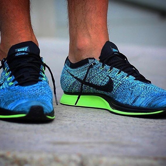 Sneakers of the day by @pops75 : Nike Flyknit Racer Blue Lagoon ! #shareit # Flyknit #FlyknitRacer #igsneakercommunity #kickstagram #sneakers # sneakernews ...
