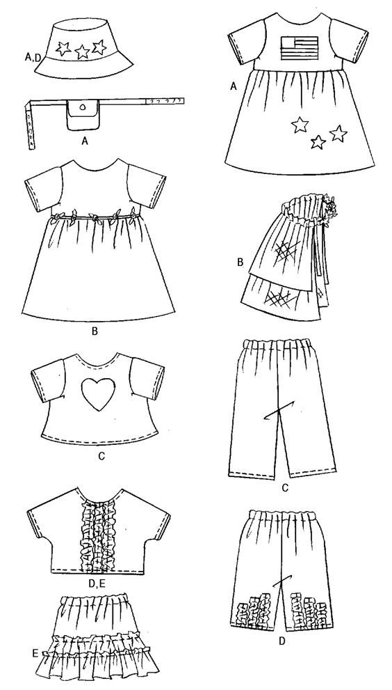 Free Printable Doll Clothes Patterns | images butterick | Felt ...