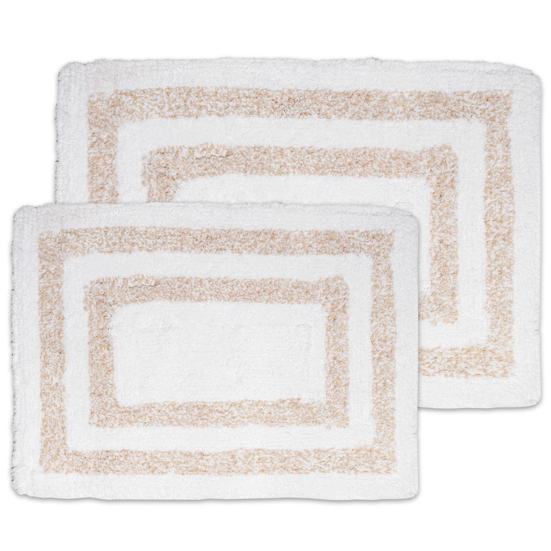Luxurious 100% Cotton Super Heathered Bath Rug