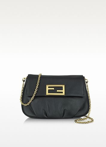 Fendi Mini Leather Fendi Pouchette | FORZIERI