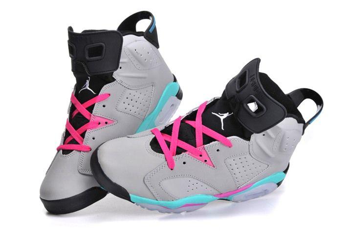 Nike Air Jordan XI 6 New Releases Mens Basketball Shoes Grey Pink