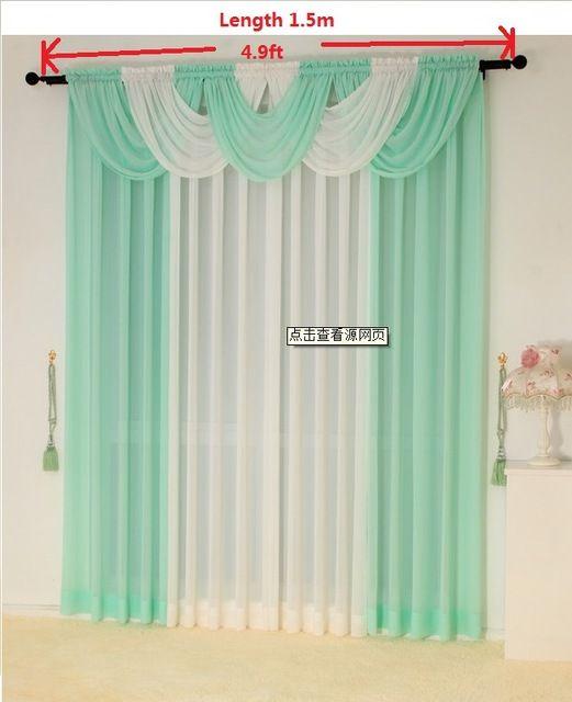 Cortinas para la sala de estar cortina pura cortinas de cocina