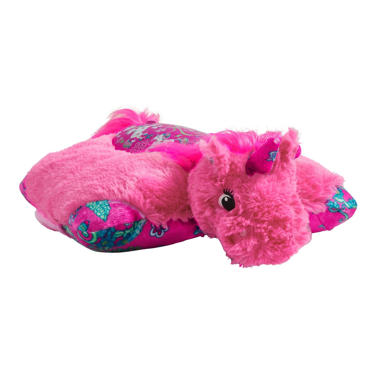 Pillow Pets Colorful Pink Unicorn Plush Sleeptime Lite Animal Pillows Disney Pillow Pets Disney Pillows