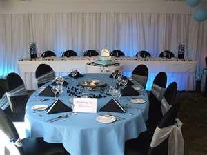 Light Blue And Black Wedding
