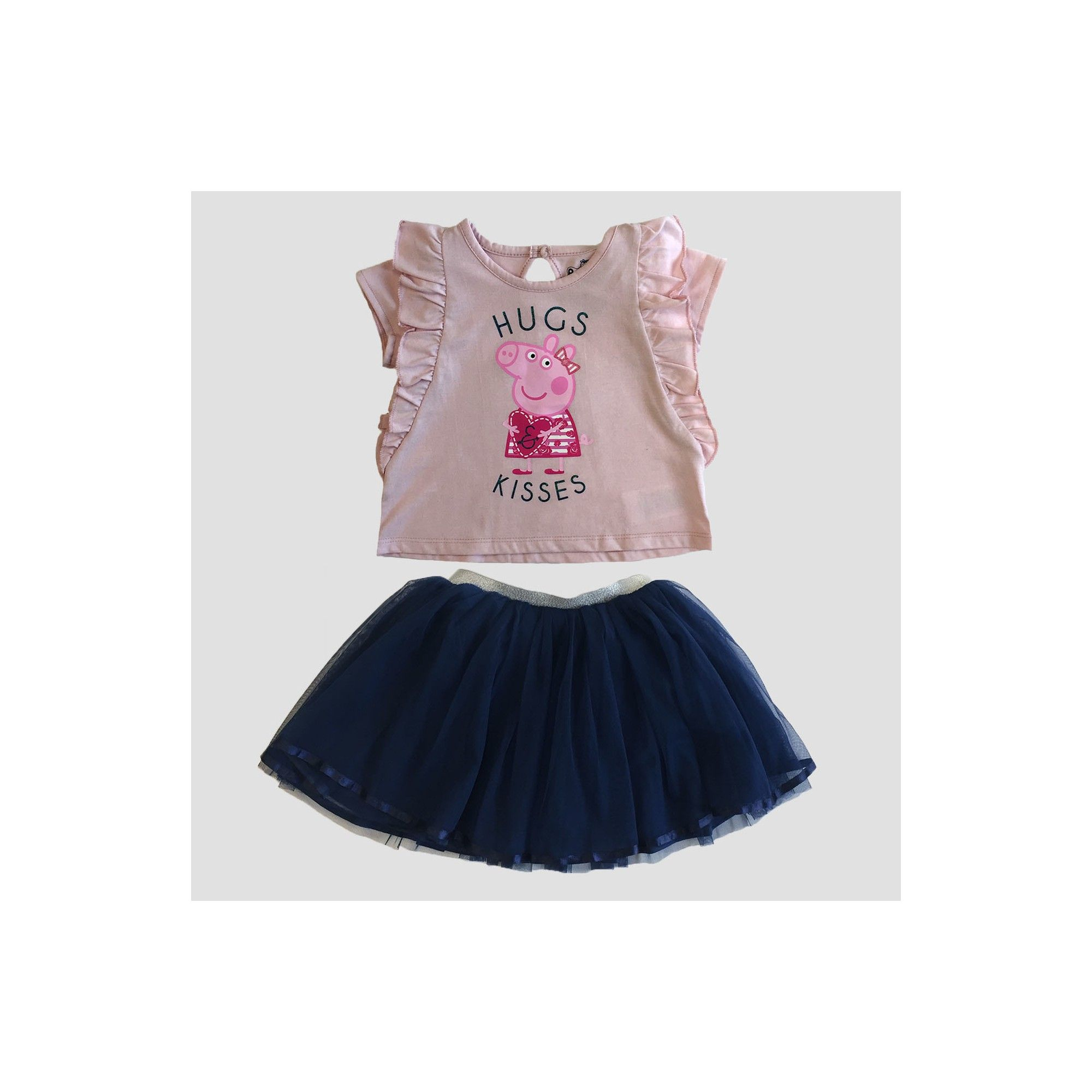Toddler Girls' Peppa Pig Top And Bottom Set 2T