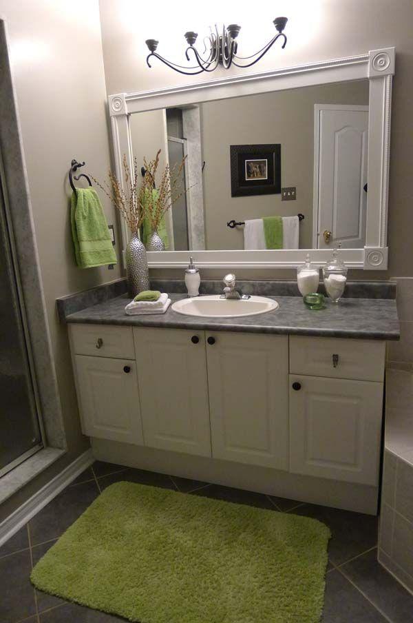 Image detail for DIY Bathroom Mirror Frame Project