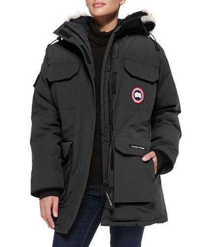 canada goose jacket faux fur