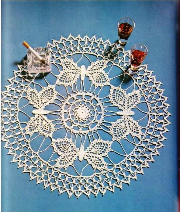 Solo esquemas y diseños de crochet: mariposas   örgü süs   Pinterest ...