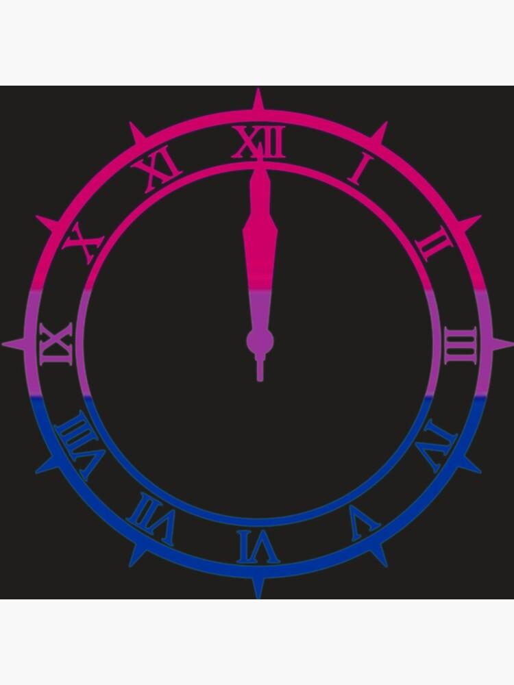 Persona 3 Dark Hour Bi Pride Colours Clock By Hildavalg Pride Colors Bi Pride Colours