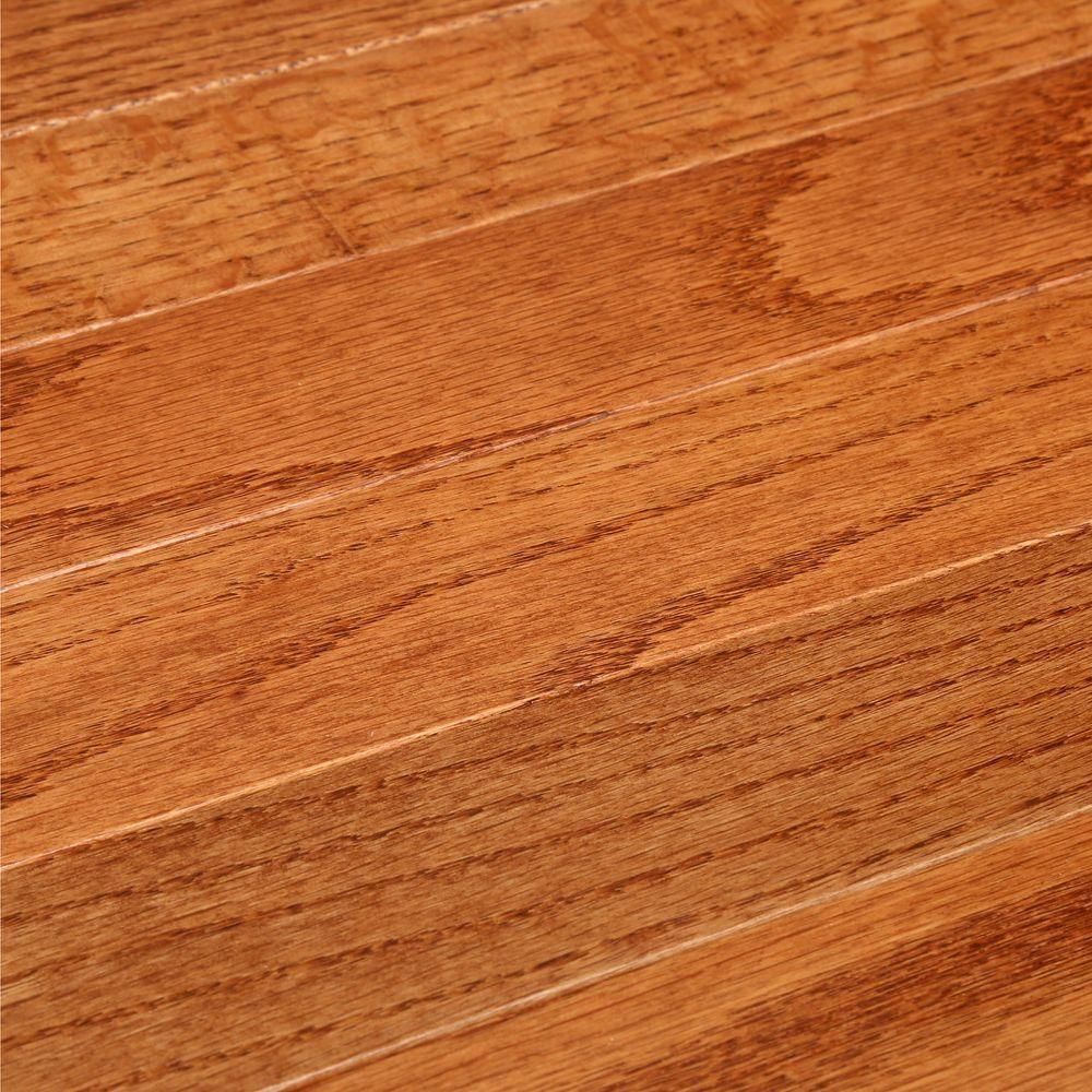 Bruce Laurel Gunstock Oak 3 4 In Thick X 2 1 4 In Wide X Varying Length Solid Hardwood Flooring 20 Sq Ft Case Cb924 The Home Depot Hardwood Floors Solid Hardwood Floors Hardwood