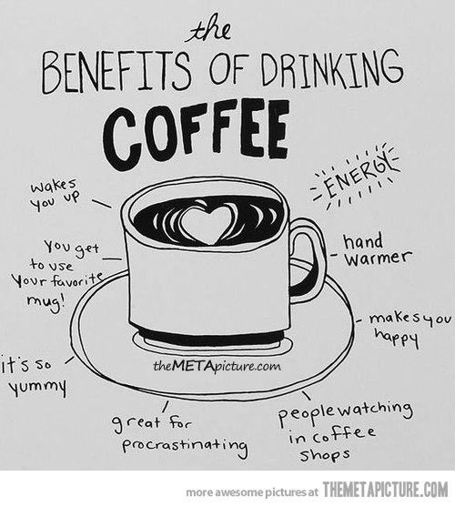 The benefits of drinking coffee… | Coffee, Burlap and Benefit