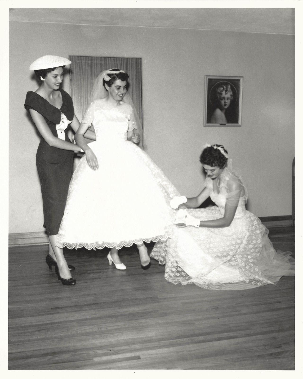 1956... Such a cute vintage wedding photo~