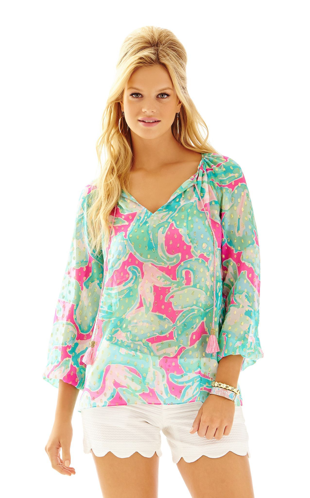Rilla Top in Tropical Pink Pink Sands