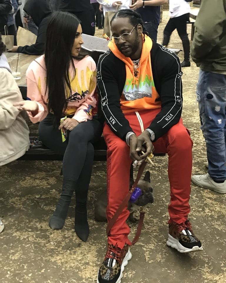 Kim 2 Chainz In Wyoming At Kanye S Listening Party