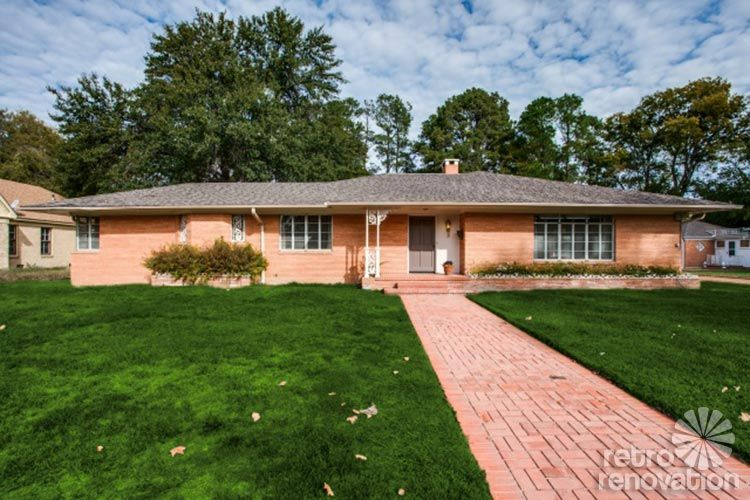 1954 texas time capsule house original cork floors gorgeous brick work more 26 photos midcentury ranchbrick