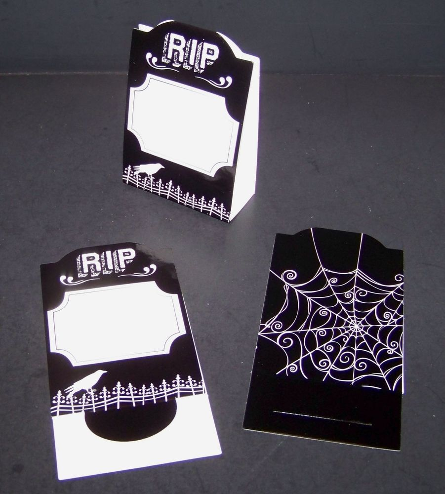 Headstone Labels Seating Chart Table Place Cards 6 Count RIP  #Unknown