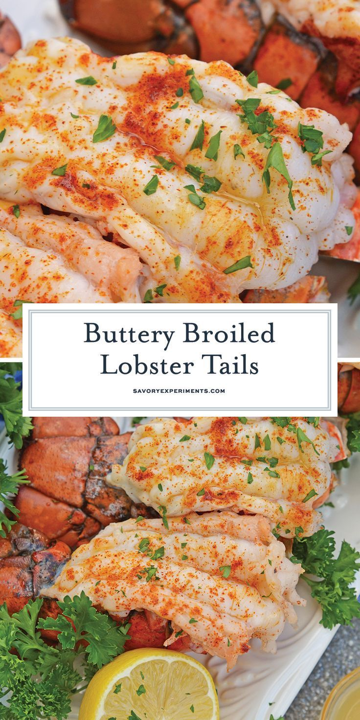 Broiled Lobster Tails with Clarified Lemon Butter # ...