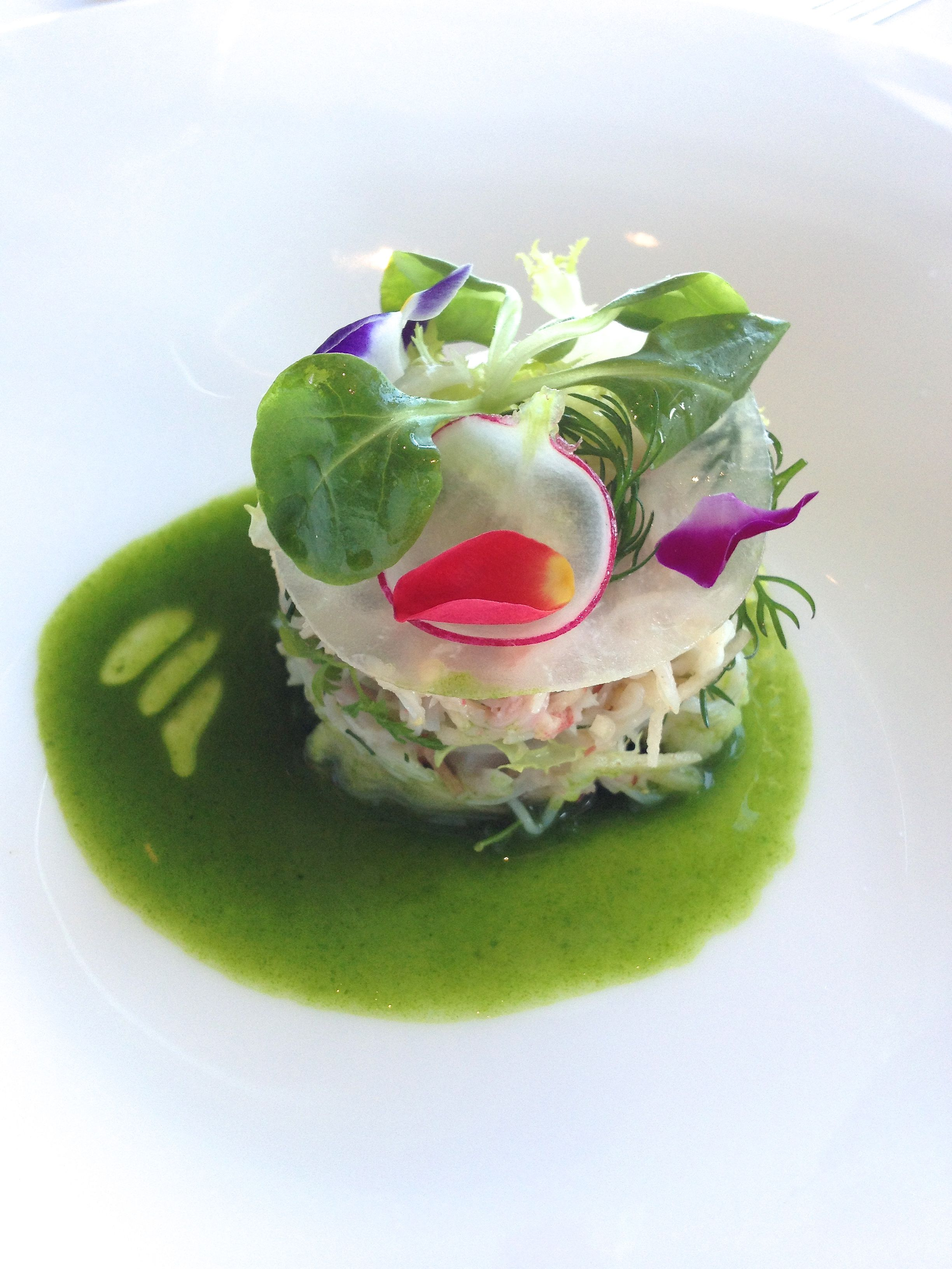 French fine dining food picture zuwai crab crustacean for French starters vegetarian