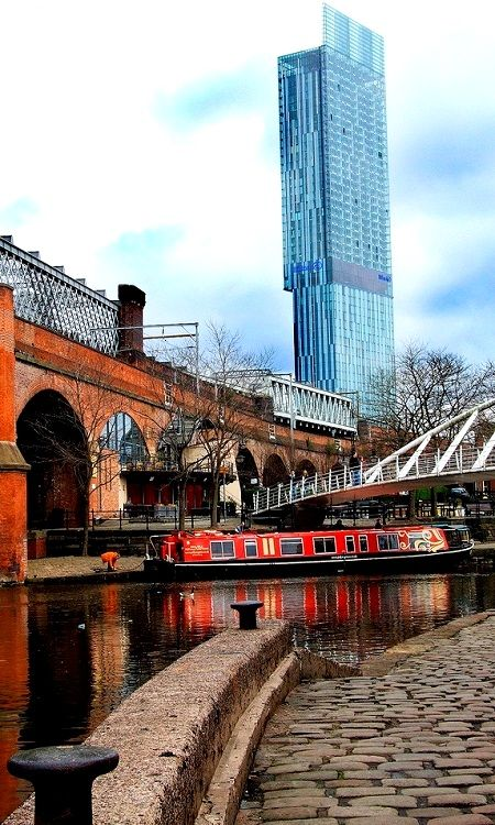 Betham Tower from Castlefield Basin, Manchester.