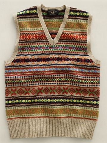 Ralph Lauren Wool Fair Isle Vest - from the men's collection, but ...