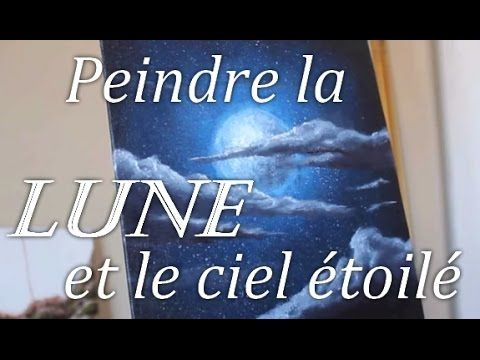 peindre motif lune peindre la mer la nuit peindre paysage marin tutoriel sur la peinture. Black Bedroom Furniture Sets. Home Design Ideas