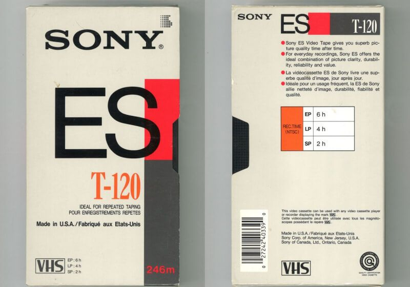 Fb Url Goo Gl 856prs Tech Trivia Approximately How Long Was The Tape Inside A Standard T 120 Vhs Tape L Vhs Cassette Packaging Design Trends Packaging Design