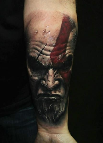 god of war tattoo amazing realism beauty is a beguiling call to death and i 39 m addicted to the. Black Bedroom Furniture Sets. Home Design Ideas