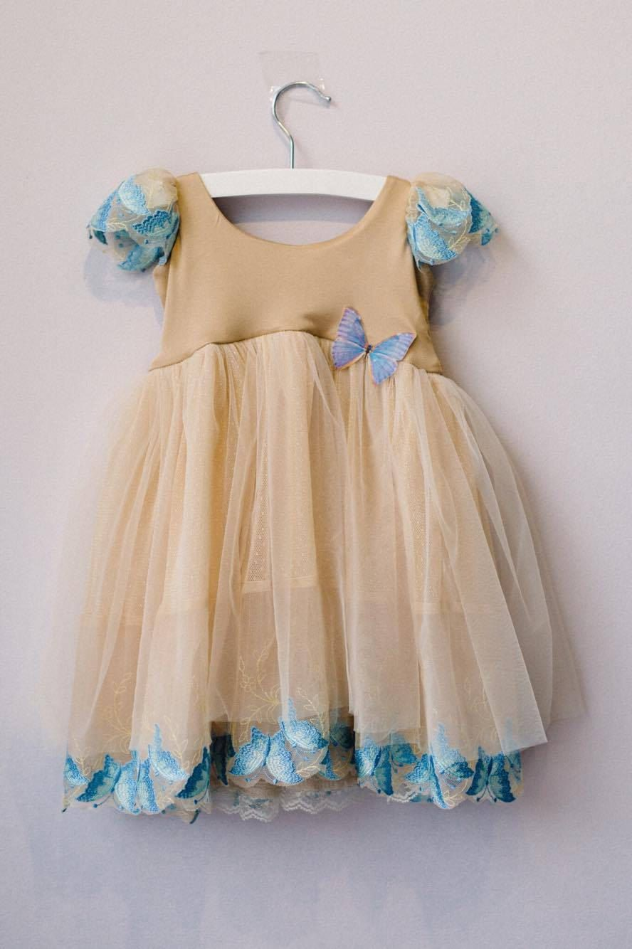 Cinderella Gold First Birthday Dress, First Birthday