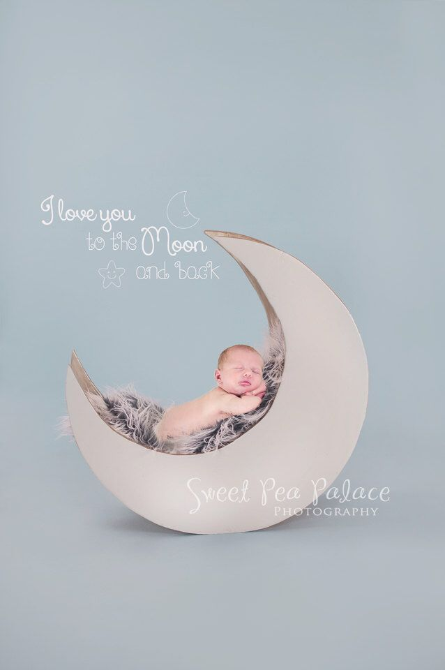 Newborn baby child photography prop digital backdrop for photographers blue moon with free word overlay by sweetpeapalace on etsy