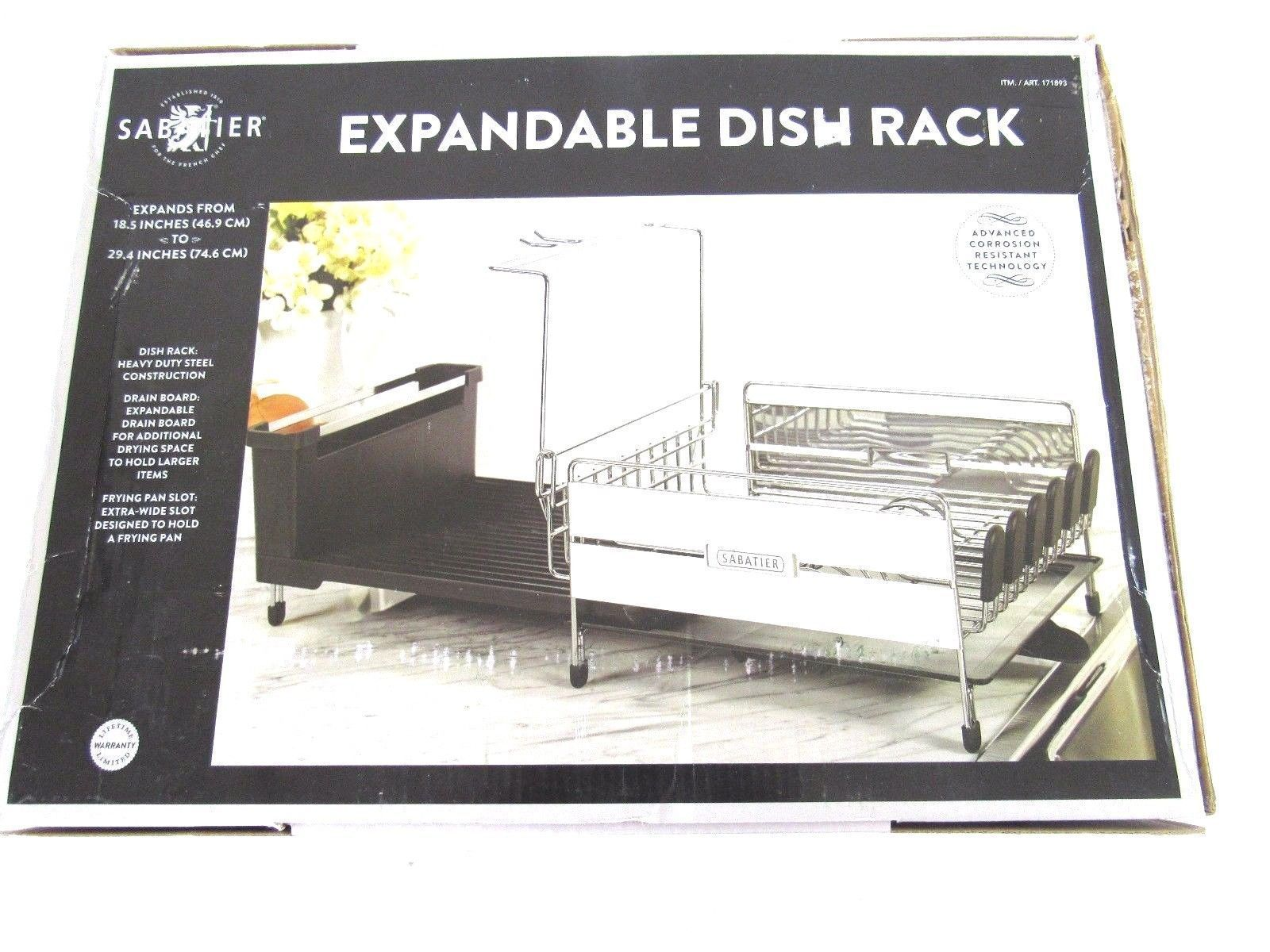 "Sabatier Dish Rack Pleasing Sabatier Expandable Dish Drying Rack Expands From 185""  294 Decorating Design"