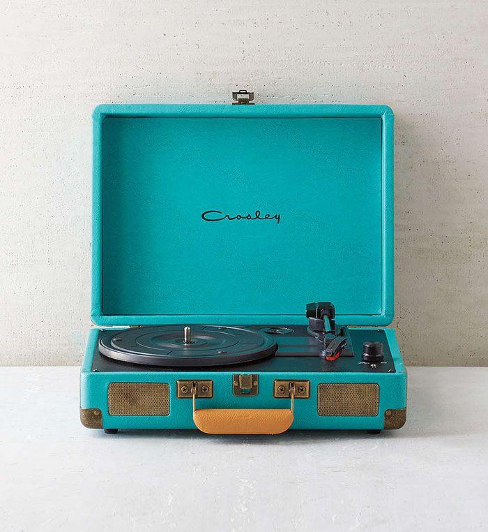 Crosley X Turquoise Cruiser Briefcase Portable Vinyl