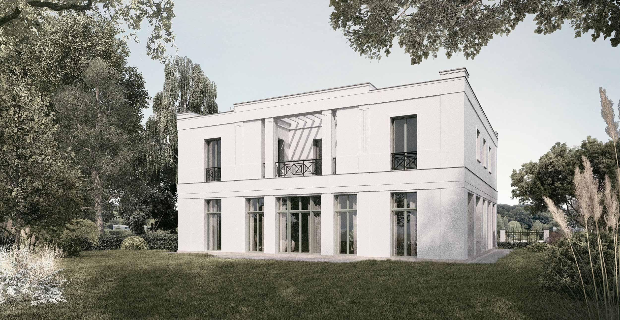 portikusvilla bauwerke in potsdam pinterest klassisch moderne h user und visualisierung. Black Bedroom Furniture Sets. Home Design Ideas
