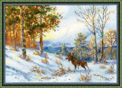 """1528 """"Лось в зимнем лесу"""" по мотивам картины В.Л.Муравьева"""