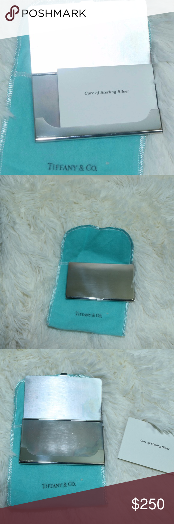Tiffany and Co Sterling Silver Business card case | Business card ...