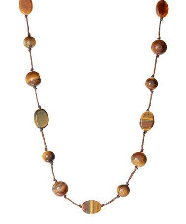Brown Tigereye Short Necklace #zulily #zulilyfinds