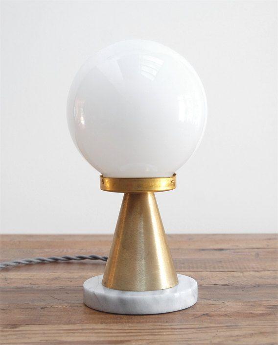 Lampe De Table Moderne Lampe De Table Du Milieu Du Siecle Lampe De Table En Marbre
