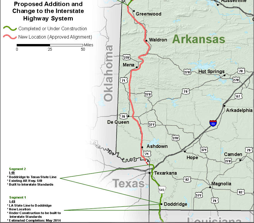 I 49 Corridor Map Arkansas