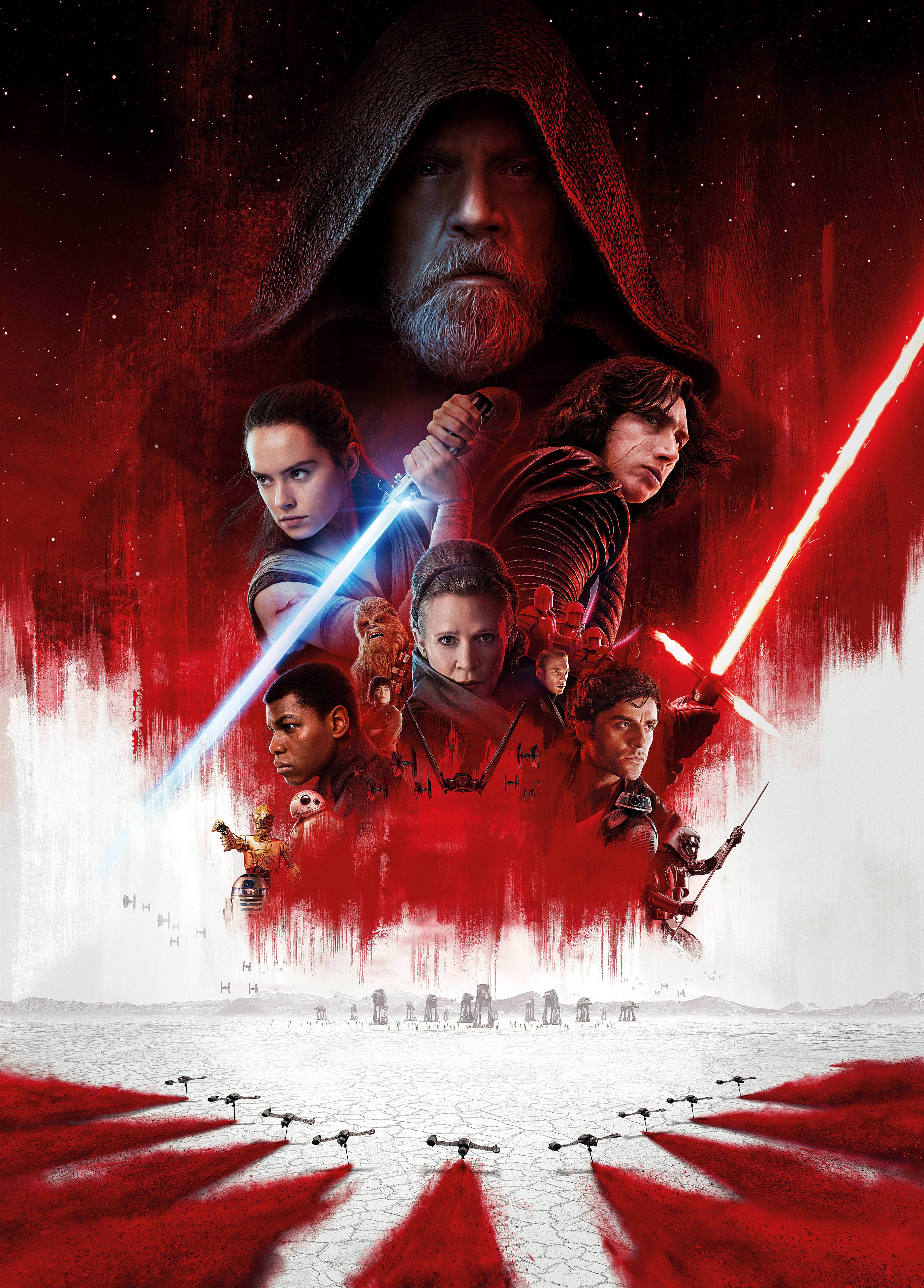 Star Wars The Last Jedi Poster Textless Variant Official Not A Fan Edit Star Wars Episodes Star Wars Poster Last Jedi