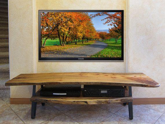 Live Edge Solid Slab Log Tv Stand Free Shipping Solid Wood Tv Stand Tv Stand Rustic Contemporary