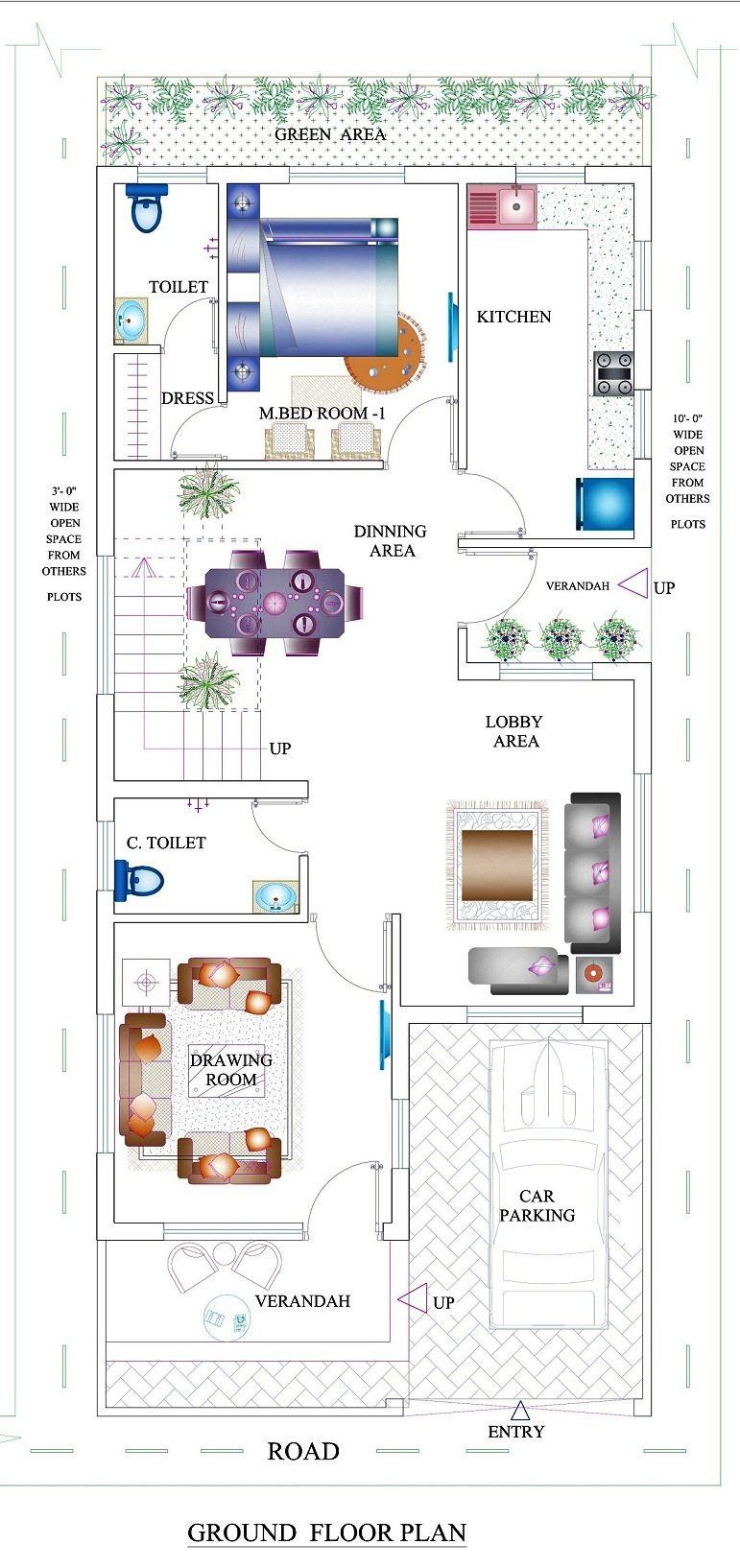 Apna ghar house design home plan floor plan indian for Indian ghar design