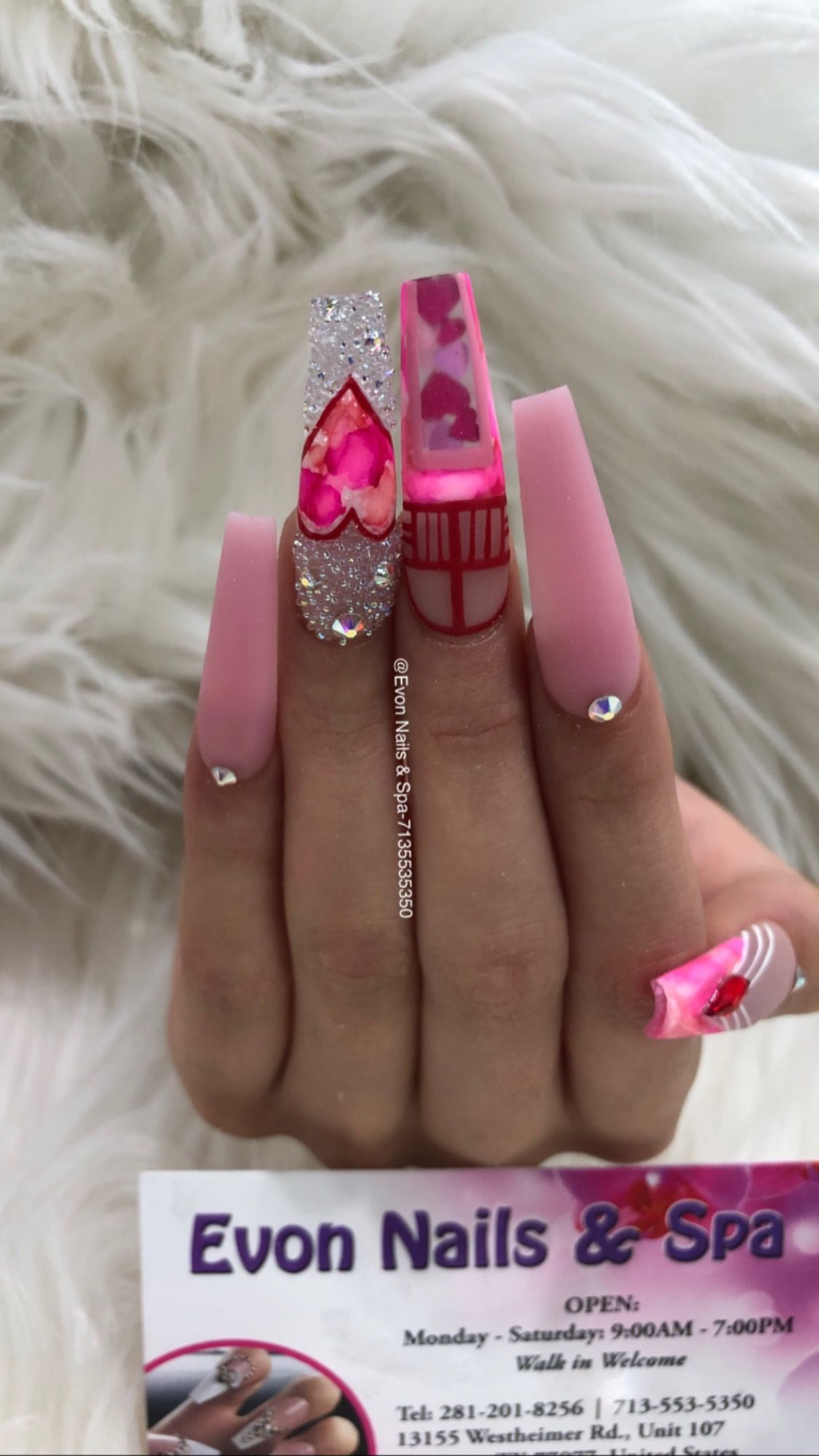 Hearts Love Pink Pinknails With Images Valentine Nail Art