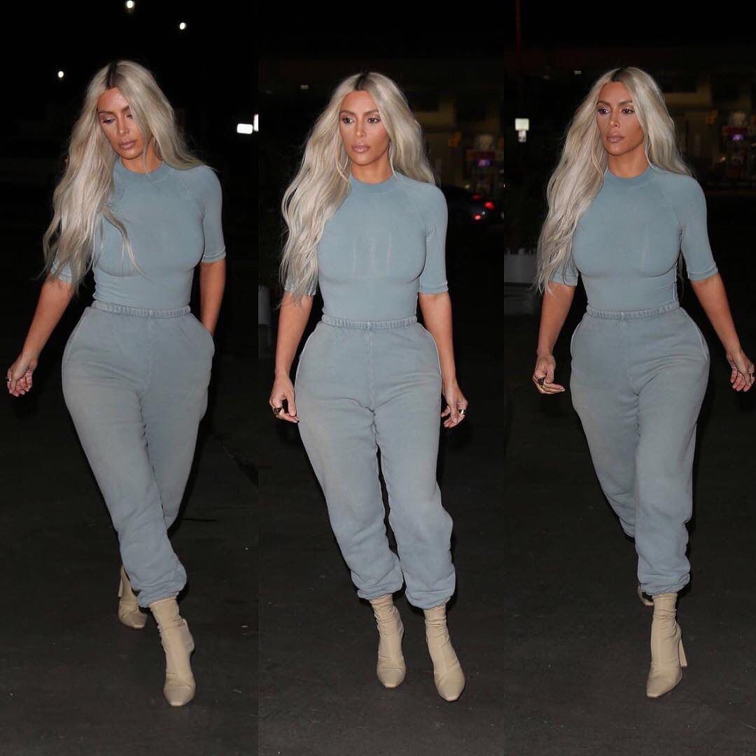 f58975af3817f Kim Kardashian Wearing YEEZY SEASON 6 Clothing