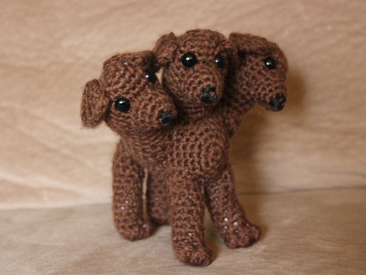 Crochet Cerberus - Three Headed Dog Amigurumi - Crochet Fluffy Dog ...