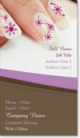 Make A Great Looking Card For Your Nail Tech Business Over At Vistaprint I Love Them