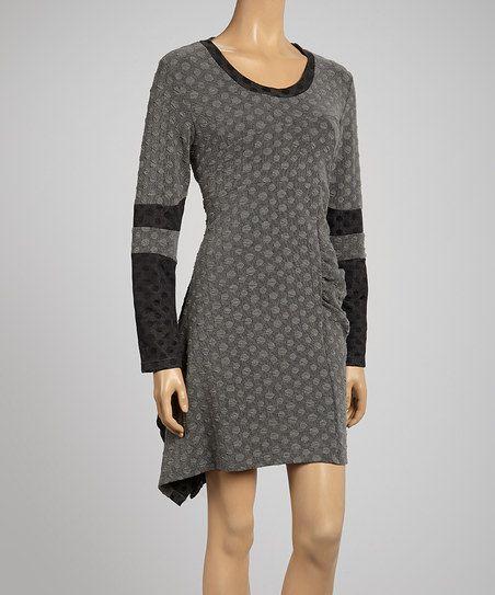 Black Polka Dot Contrast Dress