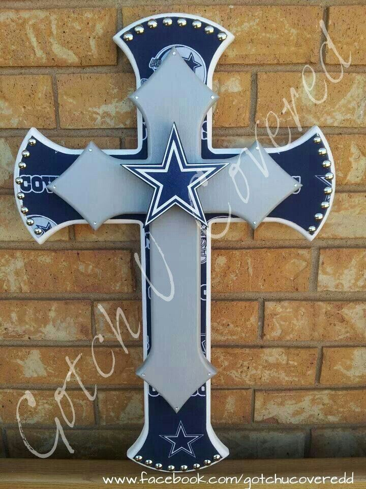 24 Quot Dallas Cowboy Double Stacked Cross Gotch U Covered